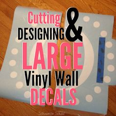 I've been asked time and time again how to cut and apply large vinyl decals created in Silhouette Studio. I've discussed how to create oversized stencils and shared how to apply wall decals, but toda
