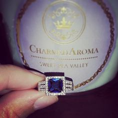 Gorgeous sapphire ring uncovered from the heart of Charmed Aroma candle. Seek your ring surprise today!
