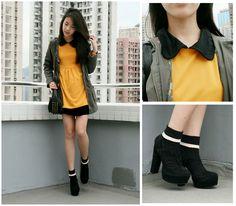 Zoe  S - Romwe Shoes, Sheinside Dress, Sugarlips Apparel Jacket, H&M Socks - SOMETHING//