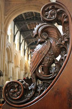 the end of a choir stall in Oxford