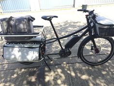 Riding the new Bosch e-bike system on an Xtracycle Edgerunner cargo bike.