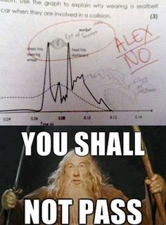 LOTR - from the teacher's comment, I'm guessing it's not the first time...