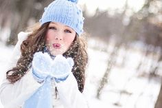 A few winters ago, I took this photo of lovely Jessica on a snowy winter day.  We had tried several times to blow real...