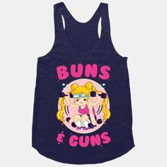 Buns & Guns Work out your buns and your guns with this Sailor Moon anime themed fitness design