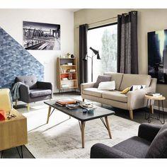 Sillón vintage de tela gris MAISONDUMONDE 270€