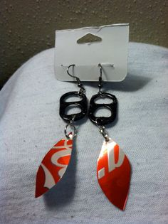 Pop Can Tab Earrings Upcycled or Recycled $10.00