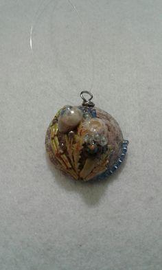 Sea themed sea shell pendant