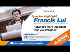 Exabytes eCommerce 2013 Speaker: Francis Lui Ecommerce, Conference, Seo, Learning, Studying, Teaching, E Commerce, Onderwijs