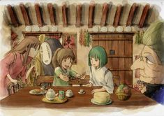 Image uploaded by Find images and videos about anime, studio ghibli and spirited away on We Heart It - the app to get lost in what you love. Hayao Miyazaki, Howl's Moving Castle, Studio Ghibli Art, Studio Ghibli Movies, Totoro, Anime Manga, Anime Art, Chihiro Y Haku, Studio Ghibli Spirited Away