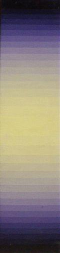 "Norman Zammitt, Yellow to Violet II, 1978, Acrylic on canvas, 41"" x 9 1/4"""