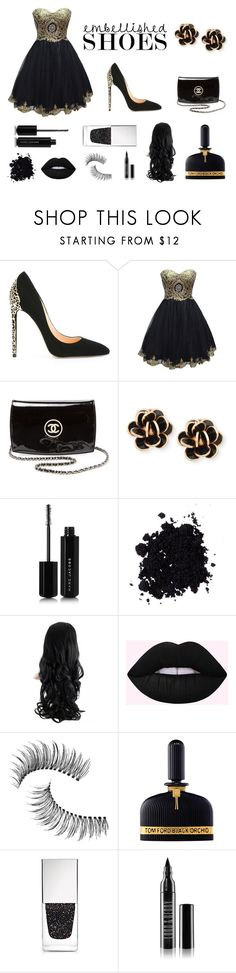 """Black and Yellow"" by novator ❤ liked on Polyvore featuring Cerasella Milano, Chanel, Chantecler, Marc Jacobs, Trish McEvoy, Tom Ford, Givenchy and Lord & Berry"