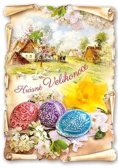 Old Postcards, Happy Easter, Easter Eggs, Table Decorations, Happy Easter Day, Dinner Table Decorations