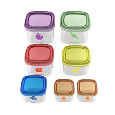 SDC - 7 Piece Portion Control Containers Kit Comparable to 21 Day Fix with…