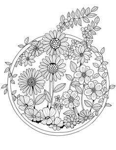 Pattern Coloring Pages, Adult Coloring Book Pages, Flower Coloring Pages, Coloring Pages To Print, Mandala Coloring, Colouring Pages, Coloring Books, Printable Coloring Sheets, Colorful Drawings