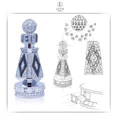 """Скетчування шахів із діамантами - """"пішак"""", для сайту шахів з діамантами."""
