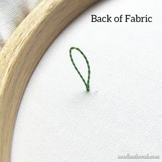 Stitch Tip: Starting two strands of floss neatly and securely