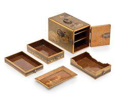 A small lacquer Kodansu (incense box) Edo period (1615-1868), 19th century
