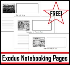 Living and Learning at Home: Exodus Notebooking Pages