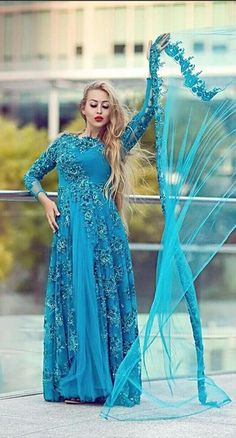 African Cheap Sheer Tulle High Neck Blue Lace Applique Long Sleeve Evening  Dresses A Line Formal Party Prom Dresses c45c3d7e72ad