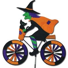 Large Witch Garden Spinner Garden Wind Spinners and Whirligigs Create the Halloween spirit with the friendly Halloween yard decoration that will make Garden Wind Spinners, American Flag Eagle, Kite Designs, Outdoor Halloween, Le Moulin, Halloween Decorations, Skeleton Decorations, Halloween Ideas, Halloween Costumes
