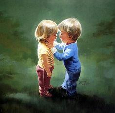 Donald Zolan - Sharing Secrets (vivid colors)(900×890)