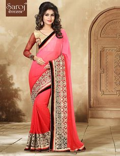 Saroj Textiles Brand for Indian Women Ethnic Wear-Traditional Modern Printed Embroidered Designer Cassual Wedding Party Wear Sarees, Buy Online, Surat Dress Indian Style, Indian Dresses, Indian Outfits, Sari Design, Traditional Sarees, Party Wear Sarees, Women Wear, Lahenga, Designer Sarees