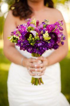 Purple Bridal Bouquet, Raspberry Plain - Leesburg Virginia Wedding Ceremony: Becca + Kyle #weddings