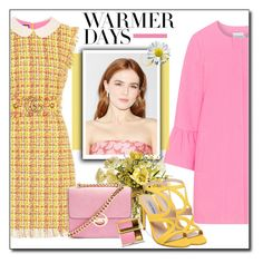 """""""Spring Day"""" by polybaby ❤ liked on Polyvore featuring Gucci, JunaRose, Topshop, Steve Madden, Estée Lauder, ootd and springdresses"""