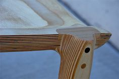 sculpted plywood chair