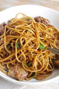 Surinaamse Bami Kip #Surinamese #Noodles #Chicken