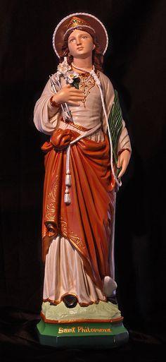 "St. Philomena The Wonder Worker 20"" Catholic Christian Plaster Religious Statue"