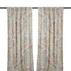 Aqua Gatehill Curtain Panel Set 84 In