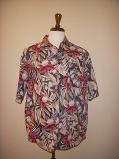 HAWAII BLUES Hawaiian SHIRT Multicolor Floral L #HawaiiBlues #Hawaiian