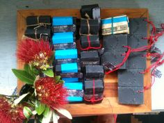 Hand made natural black soap from Raglan New Zealand.  Iron-sand.co.nz