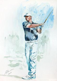 Thomas Bjorn... #golf #art