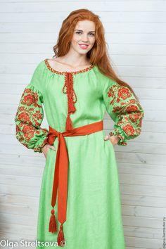 """Платья ручной работы. Ярмарка Мастеров - ручная работа. Купить Вышитое платье """"Гармония цвета"""" вышивка крестом. Handmade. Вышиванка"""