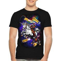 Deadpool Unicorn, Men's, Size: Medium, Black