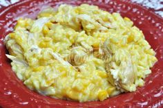 Slow Cooker Cheesy Chicken And Rice - Most popular recipe ever on SouthernPlate!