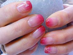 Gradation pink nail #shine #glow