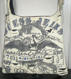 Guess Jeans Upcycled/Recycled Tshirt Cross Body by olddirtyteebags, $24.00