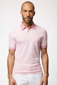 Hackett Mayfair Stripe Pique Polo Shirt