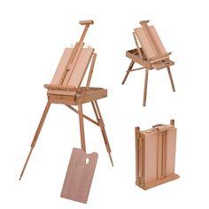 HOMCOM Tripod Art Easel Wooden Drawing Board Workstation Folding French Sketch