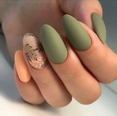 56 Perfect Almond Nail Art Designs for This Winter Almond nails for winter; Autumn Nails, Winter Nails, Spring Nails, Nails Design Autumn, Fall Nail Art Designs, Simple Nails, Classy Nails, Simple Elegant Nails, Stiletto Nail Art