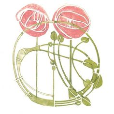 Charles Rennie Mackintosh Image Adapted From A Stencil Designed For The Rose Boudoir 1902
