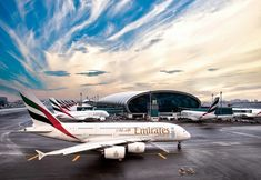 This week, Emirates Airline celebrated its birthday, and what a 32 years it has been. From its three leased aircraft fleet in 1985 to the youngest and most advanced fleet of Emirates is the blue-eyed boy of the aviation sector. Emirates Airline, Emirates Flights, Emirates Cabin Crew, Airport Jobs, Dubai Airport, Airbus A380, A380 Aircraft, Passenger Aircraft, Santiago