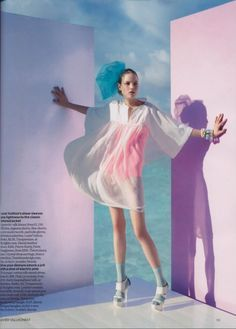 Image result for vogue editorial holographic organza