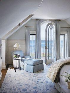 Victoria Hagan beach house interior design light blue bedroom