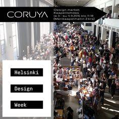 CORUYA osallistuu Helsinki Design Weekin aikana järjestettävään, Pohjoismaiden suurimpaan designvarastomyynti-tapahtumaan Kaapelitehtaalla.  Myyntipisteemme sijaitsee Merikaapelihallin parvella. Tervetuloa!