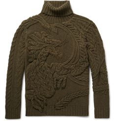 Ralph Lauren Purple Label - Cable-Knit Wool and Cashmere-Blend Rollneck Sweater Roll Neck Sweater, Cable Sweater, Men Sweater, Foto Zoom, Pullover Upcycling, Ralph Lauren, Knit Fashion, Men's Fashion, Cable Knitting