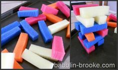 busy bag 10  Cut up sponges of different colors to play with
